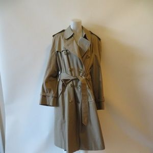 MENS BURBERRY KHAKI BELTED TRENCH COAT 42R*